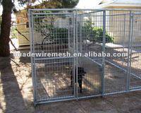 Dog kennel fence panels/dog fence cage/folding metal dog fence panel(galvanized)