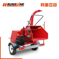 CE approved forestry machinery 22hp self-power wood chipper