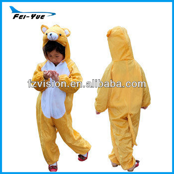 Eco-friendly Plush Animal Kids Costumes Bear yellow