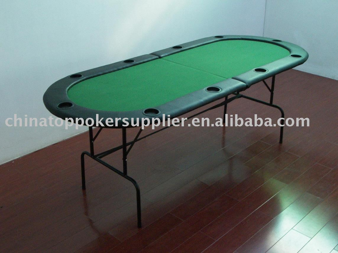 84inch two fold poker table with metal legs