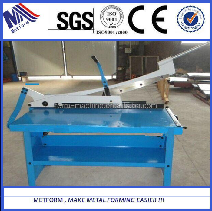 manual sheet metal cutting <strong>machine</strong> hand guillotine shearing <strong>Machine</strong> for sale