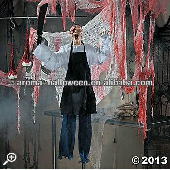 Animated Butcher Halloween Decoration Zombie  Buy - Interactive Halloween Decorations
