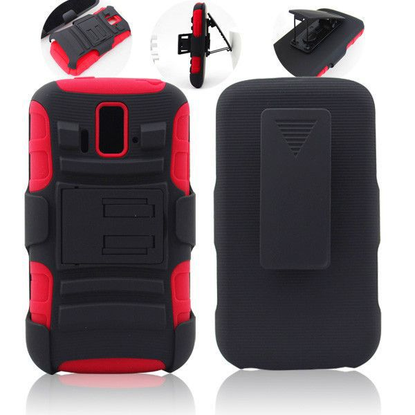 3 in 1 super robot holster combo hybrid kickstand cover case for ZTE Sonata Radiant Z740