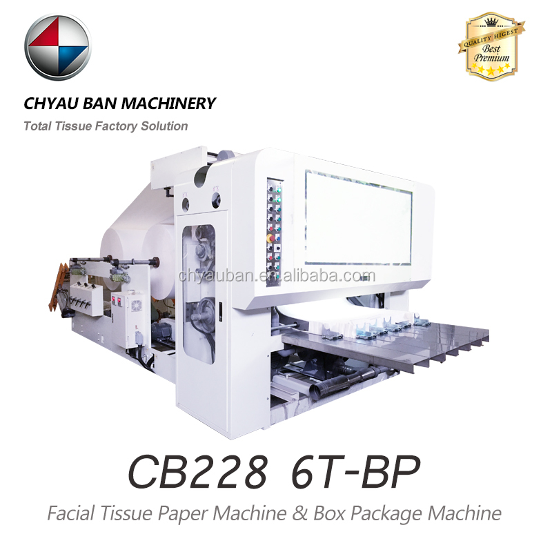 6 lines full automatic facial tissue embossing machine