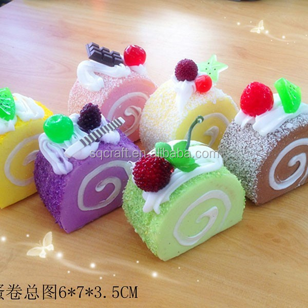 Cute Squishy Phone Straps Soft Fruit/Sprinkles/Chocolate Cake Squishies Charms/Yiwu sanqi craft factory