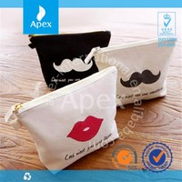 Wholesale custom zipper pouch canvas cosmetic bag