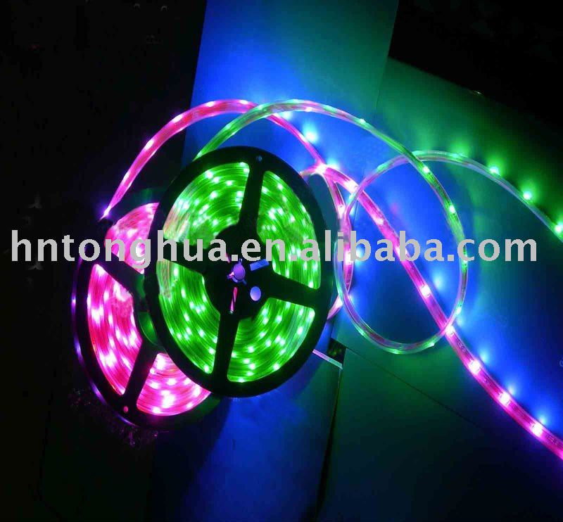 LED strip light,5050 3-chip Waterproof SMD LED Flexible Strip (10mm, 100cm/30pcs LEDs)