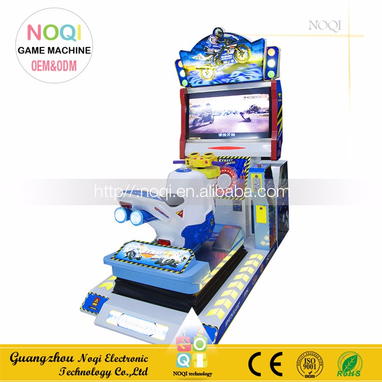 NQN-007 Manufacture arcade games 42LCD full motion bike racing games simulator driving for game center