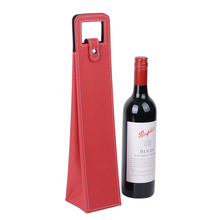 Recyclable Beverage Gift Bag Single Bootle Leather Insulated Wine Bag