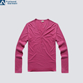 V Neck Plain long sleeve thermal shirts for women