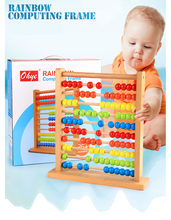 calculation flame wooden toys YZ115 wood toys for kids Abacus calculation shelf abacus math
