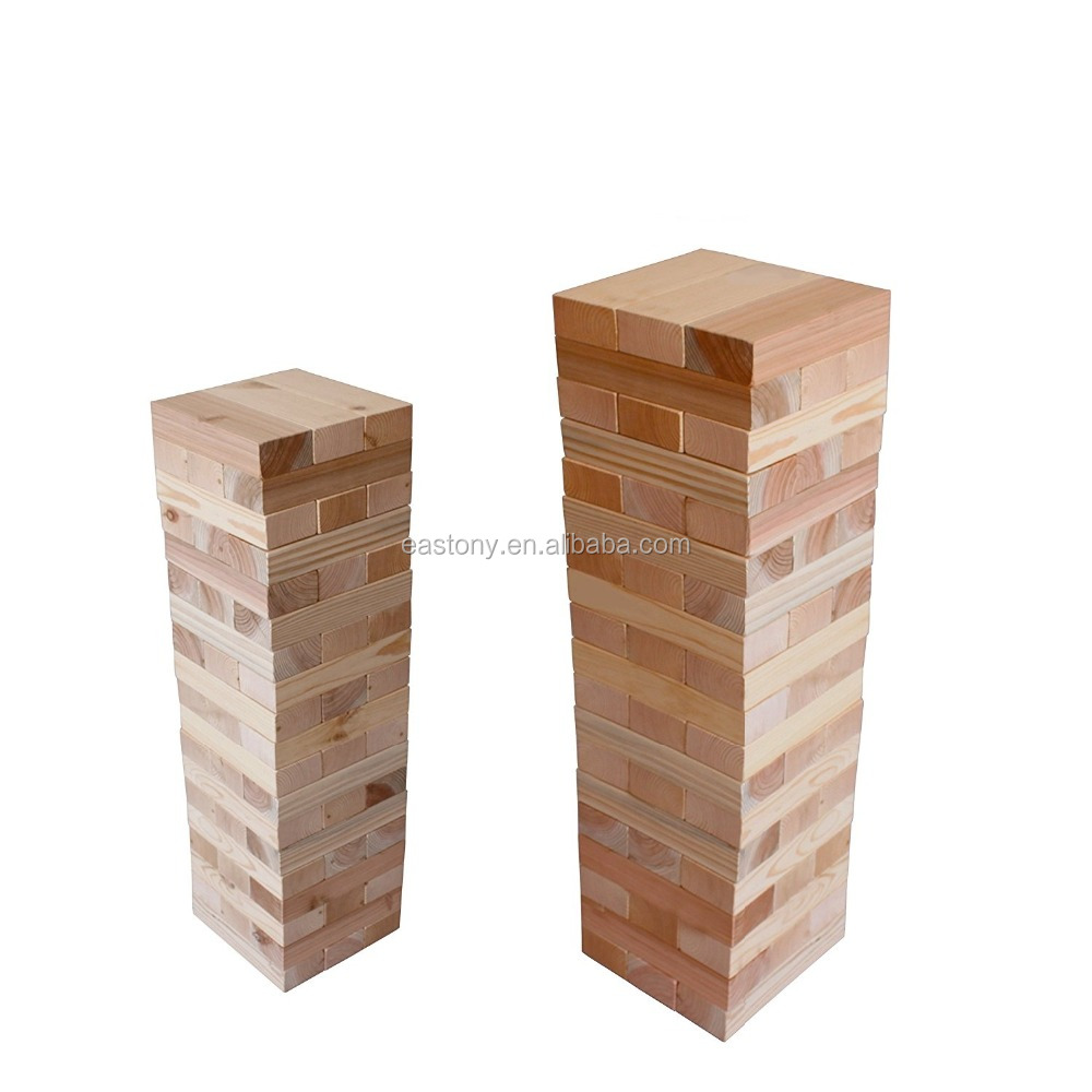 Eastony Giant Wooden Toppling Tumbling Timbers Tower with Storage Bag
