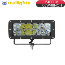 lights for 4x4 60w fog light auto parts go karts 60w off road led driving lights double row 8inch 60W 12v led light bar