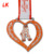 China factory custom logo heart shaped cups medals for kids