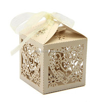 Laser Cut Paper Candy Box/ More Design Wedding Candy Box