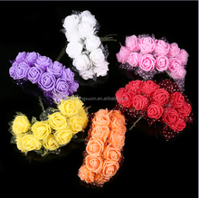 Colourfast Foam Roses Artificial Flower Wedding Bride Bouquet Party Decor DIY