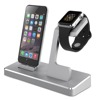 MFi Desktop Docking Station For iPhone with Aluminum Apple Watch Stand and Dual USB Charging Port on the Back Total 8.2A Output