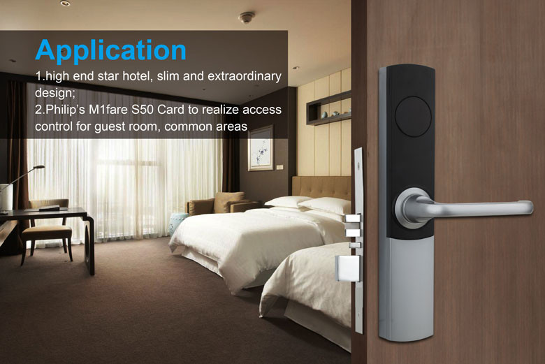 Electronic RFID Hotel Door Lock System with Card Access