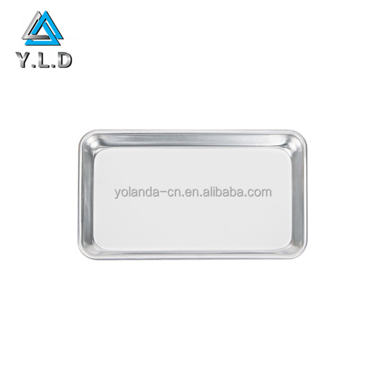 Custom High Quality Natural Aluminum Commercial Rectangular Cake Pan OEM Factory