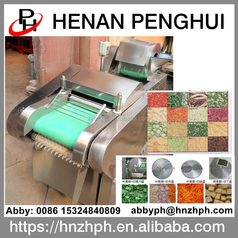 Industrial fruit and vegetable cutting machine