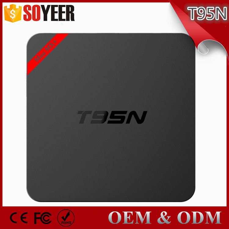 Soyeer Latest Cheap Android5.1 TV Box T95N HDMI2.0 H.265 WiFi 4K Streaming Player Smart Internet TV Box