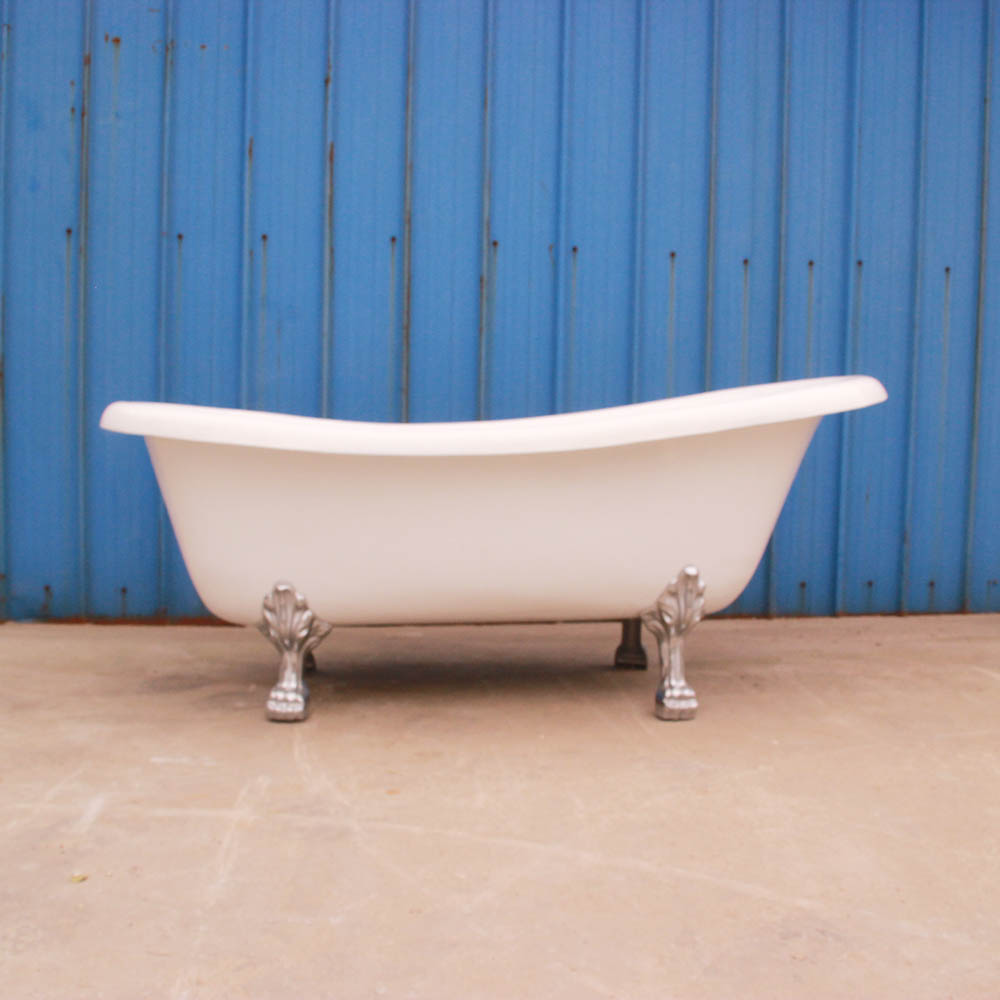 Slipper Freestanding Cast Iron Bathtub With Faucet Lion Feet For ...