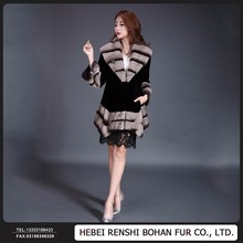 Top Quality Fashion Design Modern Natural Mink Fur Coat For Women