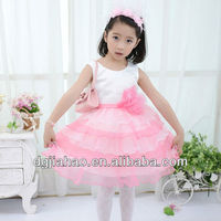 2013 fashion color combination kids prom dresses