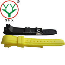 High-quality fashion SHX-205 curved head 22mm silicone rubber watch straps
