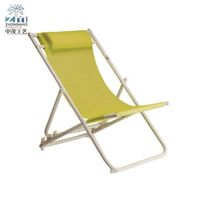 Zhongmao 17 years main manufacturer hot selling lightweight polyester outdoor portable beach folding recline chair - new product