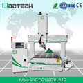 Roctech d wood carving 4 axis cnc router engraver machine , RC1325 RH - ATC wood processing machine for cabinet door making