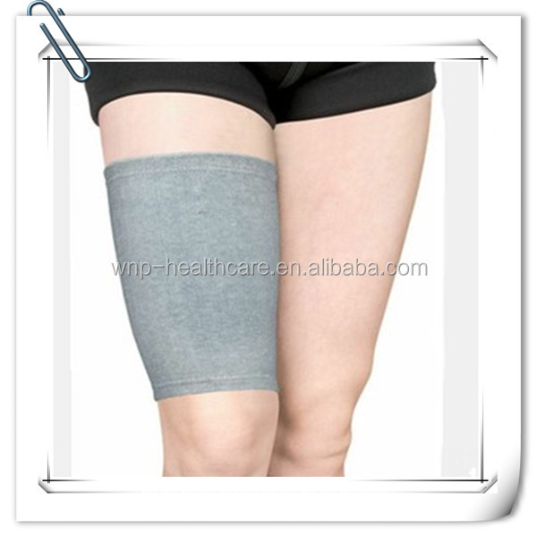 Bamboo Charcoal Fiber Grey Comfortable Thigh Support Brace With High Quality