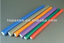 flexible soft twist perm rods/ hair roller/rulo plastico