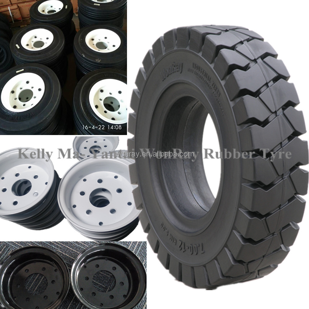 With Split Rim Wheel Forklift Solid Tires 5.50-15 700-12 8.25-15 28x9-15 5.00-8 4.00-8