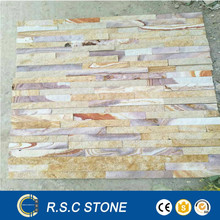 Multicolor decorative natural cultural stone slate tiles for interior decoration