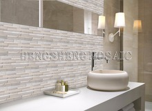 HF-6 12x12 Natural Marble Mosaic Stone Tile for Bathroom 3d Wall Tiles