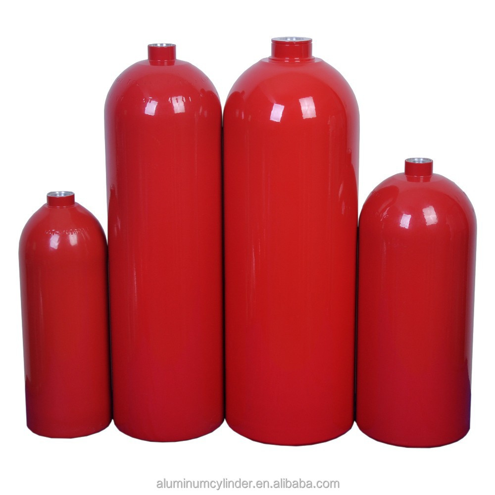 Seamless Aluminum CO2 Gas Cylinder Fire extinguisher Cylinder 5.18L~11.84L
