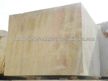 Yellow marble block