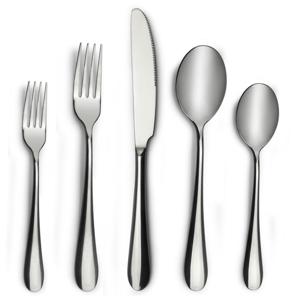 restaurant stainless steel spoon fork knife set