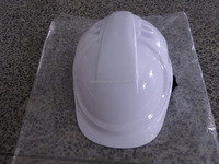 White and yellow CE safety helmet/HDPE material and novelty shape-Face shield and earmuff attachable helmet