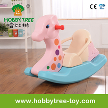 New pink rocking horse toy indoor playground playset for kids