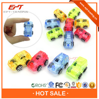 Crazy selling kids funny crystal transparent cheap plastic mini toy cars for sale
