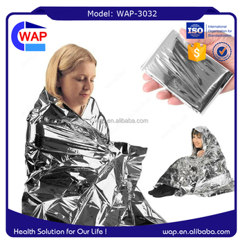 Trade Assurance WAP-health promotional whosale foil emergency blanket with ISO certificate