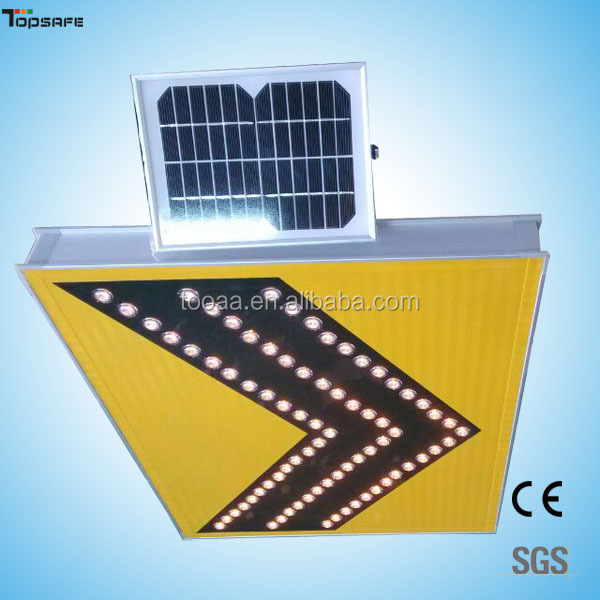 Solar LED lighted arrow signs