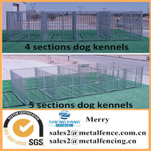 10'X10'X6' 5-runs with gate dog pet play pens houses outdoor portable welded tube dog run kennels