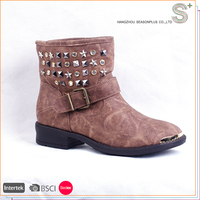 2016 Fashion belt buckle women funky ankle winter boots,boots women