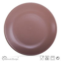 "8"" bulk brown salad plate cheap plate"