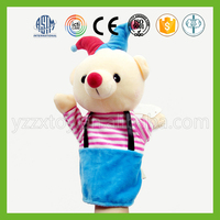 Cute funny plush bears realistic hand puppets for sale