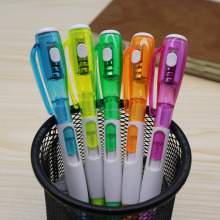 Promotional plastic led light Ball Pen With Custom Logo
