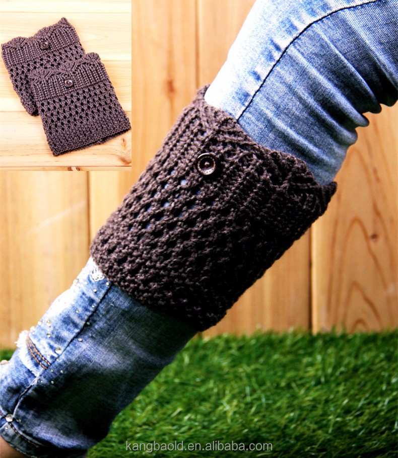 wholesale custom acrylic warm knit boot cuffs for women